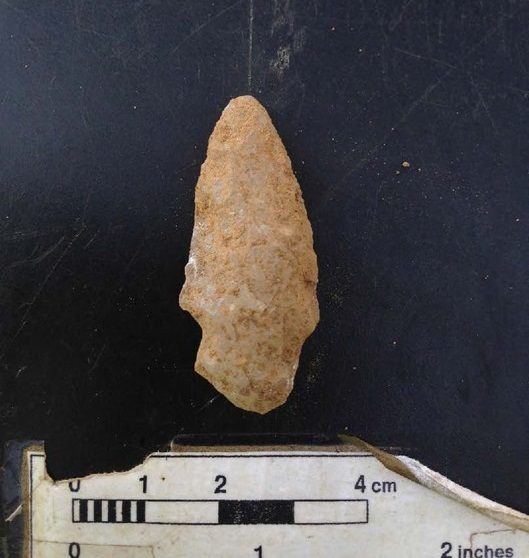 Native American fort, artifacts found at construction site