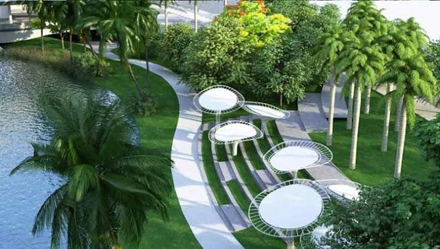 Công viên cây xanh tại chung cư Roman Plaza