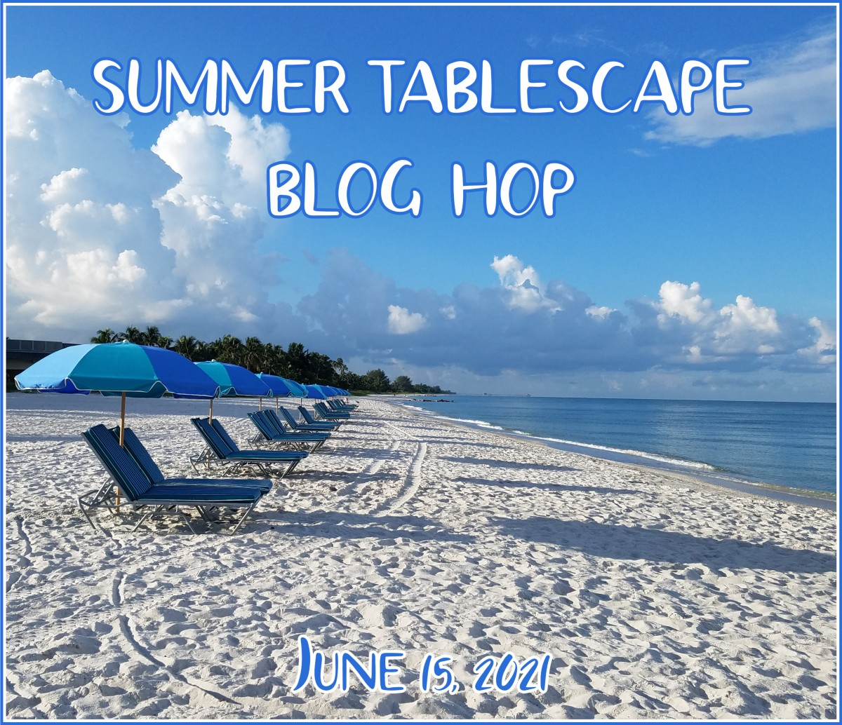 My Thrift Store Addiction summer tablescape hop preview