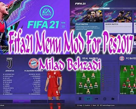 PES 2017 Graphic Menu Like FIFA 21