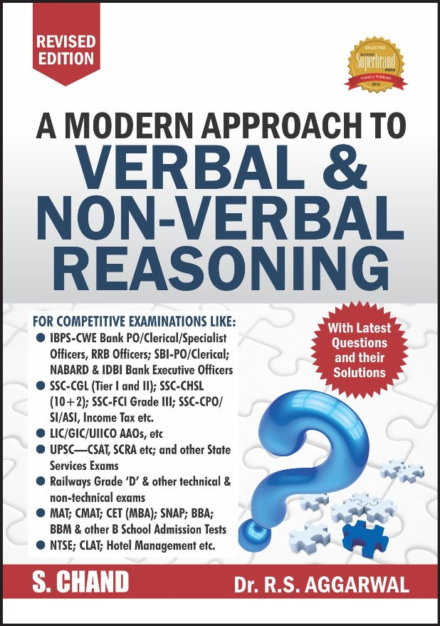 R. S. Aggarwal Verbal and Non-Verbal Reasoning : For All Competitive Exam PDF Book