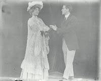 "Photograph of Arthur Soule, class of 1908, in character as a woman in the Dartmouth Players' production of ""For One Night and One Night Only."""