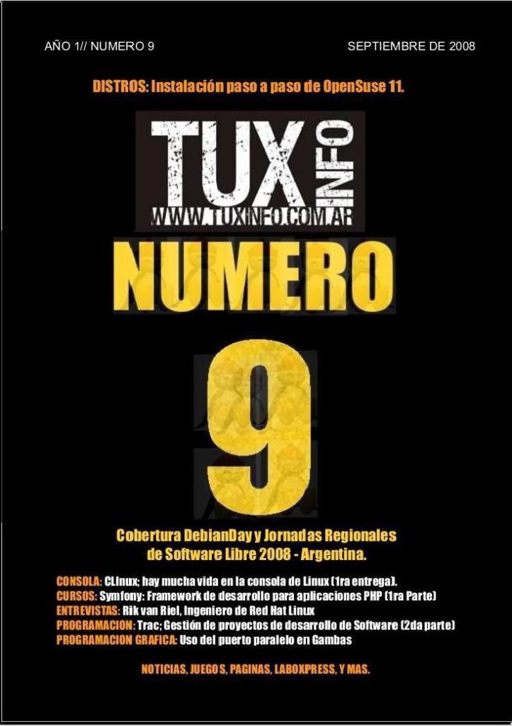 TuxInfo Nro. 9 – Al final del camino, les adelanto la tapa y sus títulos principales