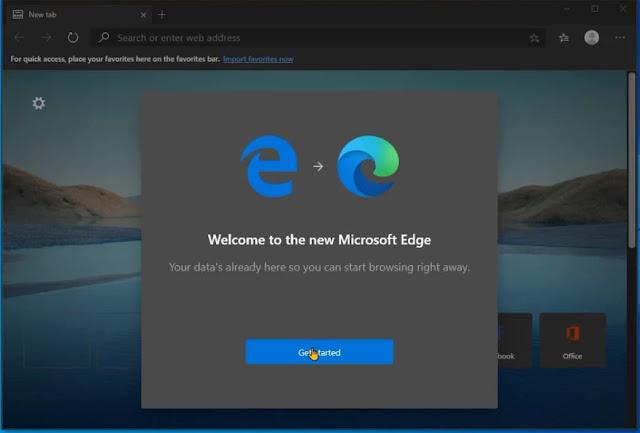 الإعلان رسميا عن النسخة النهائية من متصفح مايكروسوفت إيدج الجديد the new microsoft edge