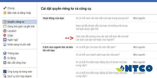 ngan nguoi khac tim ra bai dang cu tren facebook 2
