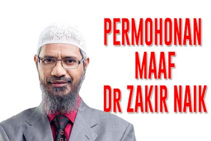 Dr Zakir Naik Minta Maaf