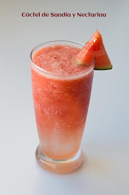 Cóctel de sandía y nectarina