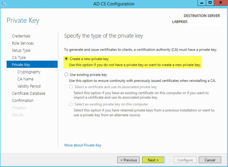 how to create a certificate in active directory certificate services