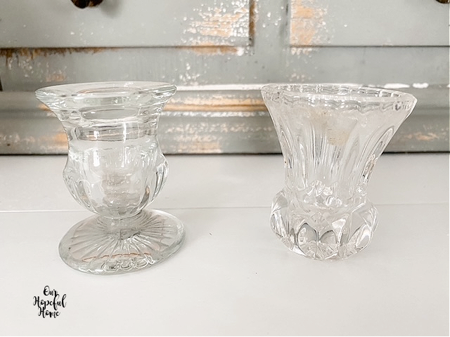 glass crystal toothpick holders