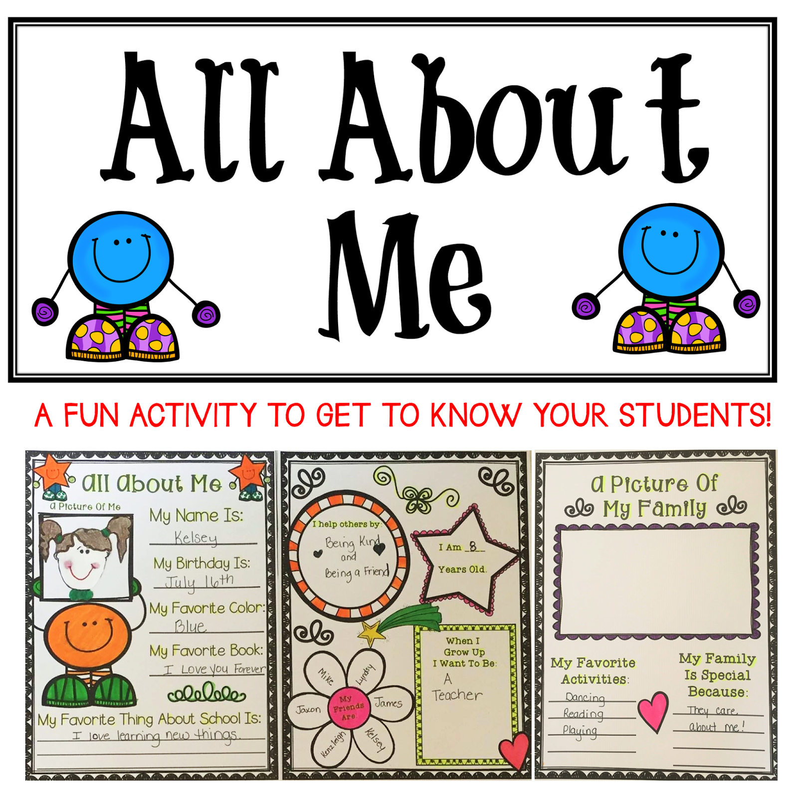 The Best Of Teacher Entrepreneurs All About Me Activity For The Classroom