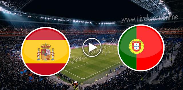 موعد  مباراة البرتغال واسبانيا بث مباشر بتاريخ 07-10-2020 مباراة ودية