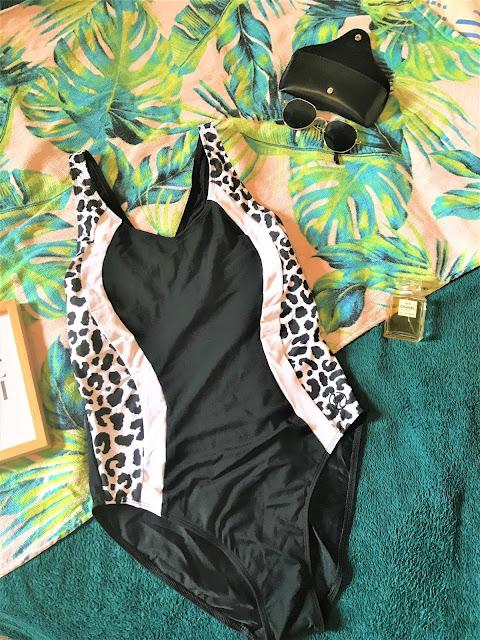 Halocline Leopard Panel V Back Swimsuit
