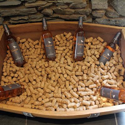 Gamade wines on display.