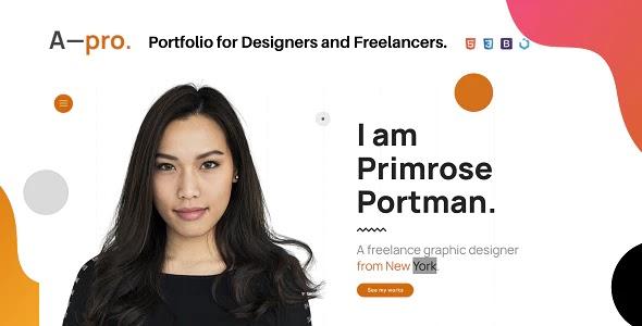 Portfolio for Designers & Freelancers