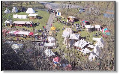 Mittelalterfest in Landsberg von oben