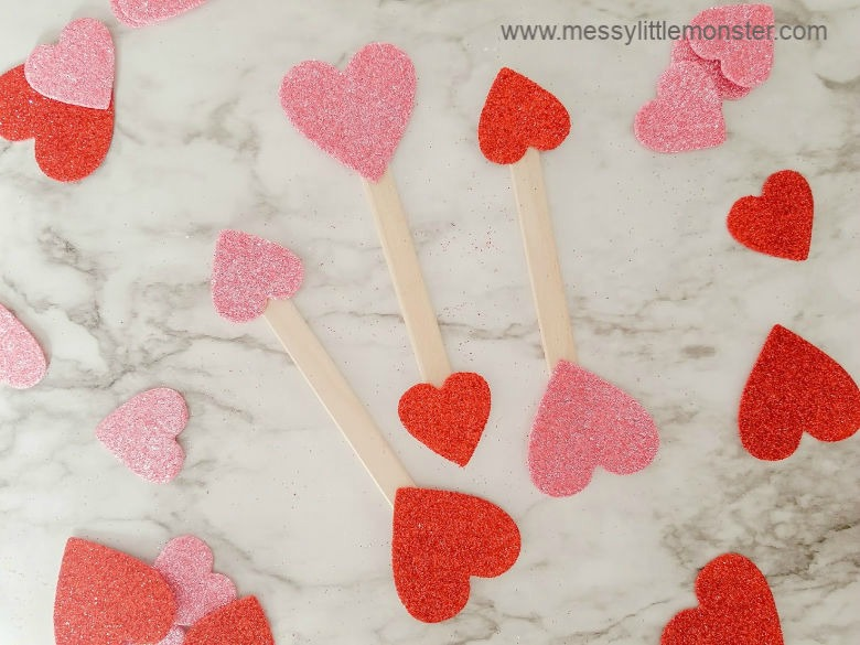 cupid arrow valentines day craft for toddlers
