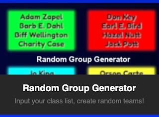 Random Group Generator Tool for Teachers