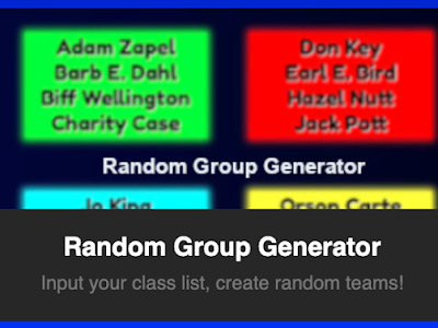 Random Group Generator- An Easy Way to Create Groups in Your Class
