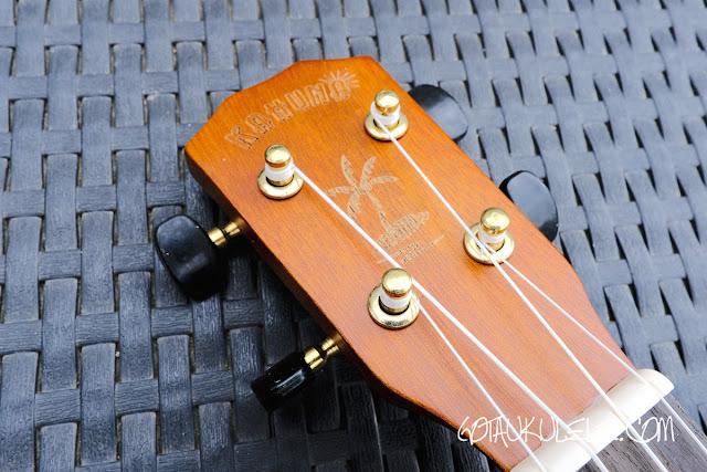 kahuna laser etched soprano ukulele headstock