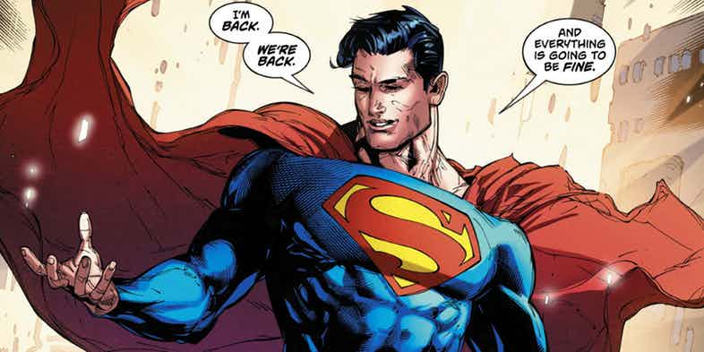 DC Universe Merges The Blue And Red Superman To Give Birth To A New Man Of Steel.