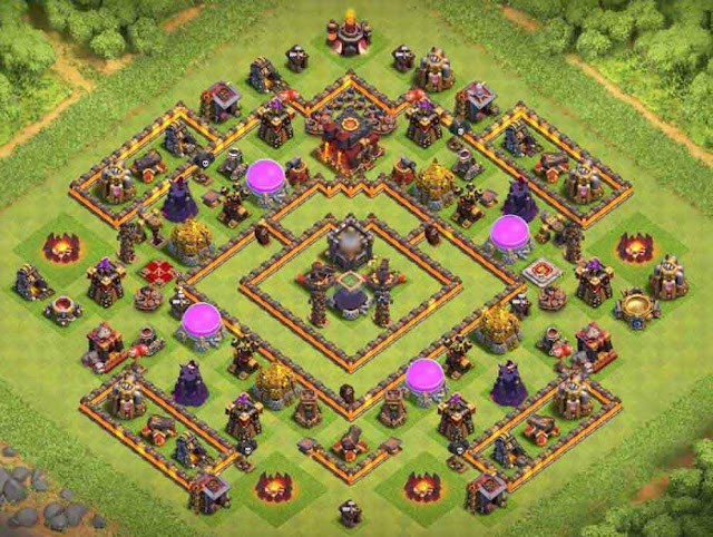 Base COC TH9 Farming 28