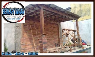 pergola kayu bengkirai - pergola kayu merbau - pergola kayu ulin - tukang pergola