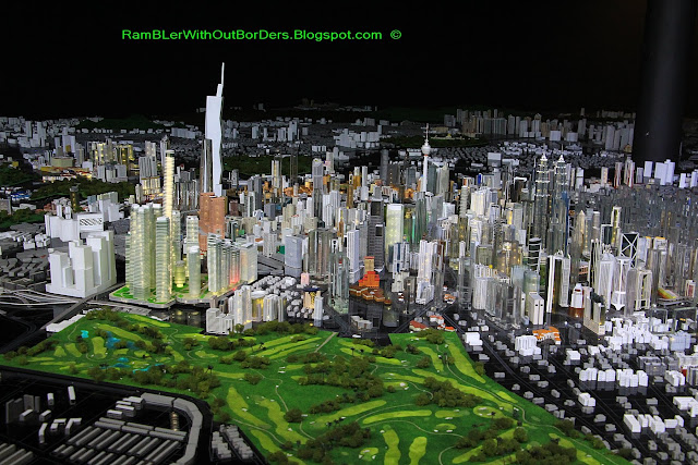Architectural city Model of KL, KL City Gallery, KL, Malaysia