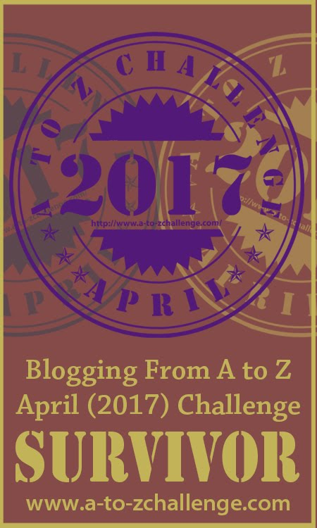 2017 A to Z Blog Challenge Survivor