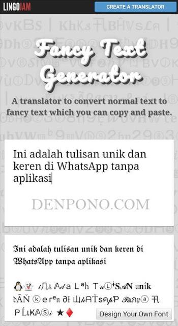 Cara Membuat Tulisan Unik dan Keren di WhatsApp