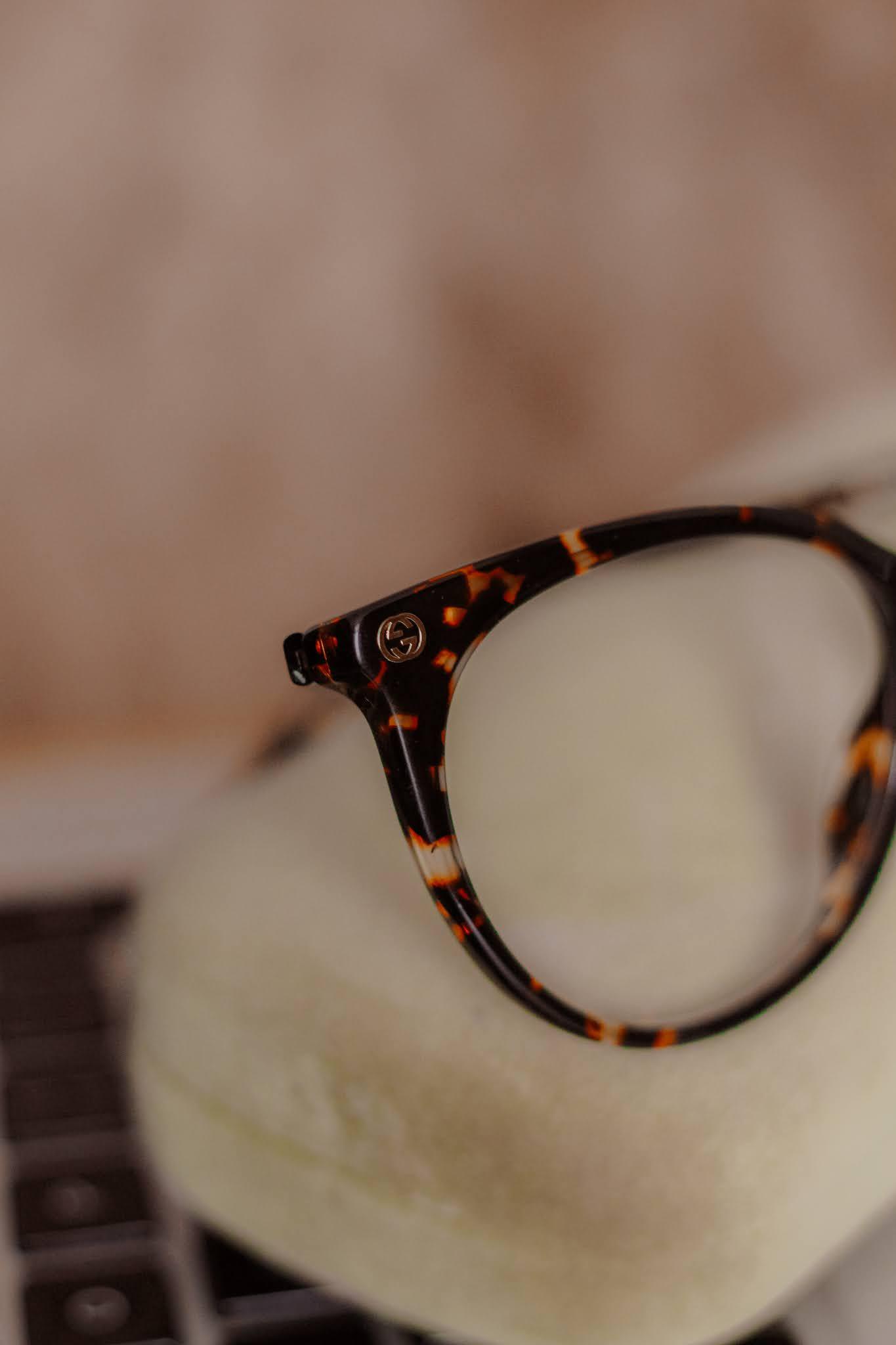 Glasses Direct Gucci GG0093O Tortoiseshell Glasses