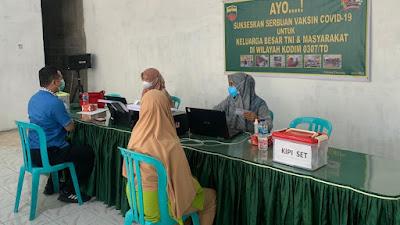 Koramil 01/PP Kembali Gelar Vaksinasi COVID-19 di Padang Panjang