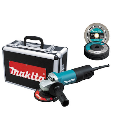 Makita 9557PBX1 grinder with aluminium case