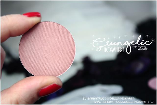 NOWHERE Blush  Grungelic collection Neve cosmetics  recensione, pareri, makeup, consigli, comparazioni