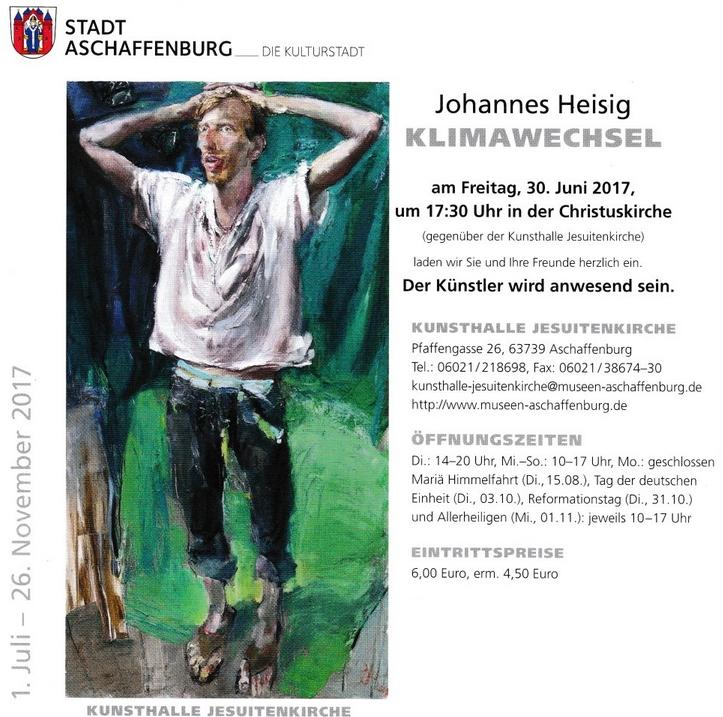Künstler Aschaffenburg aschaffenburger künstler 554 johannes heisig in der kunsthalle