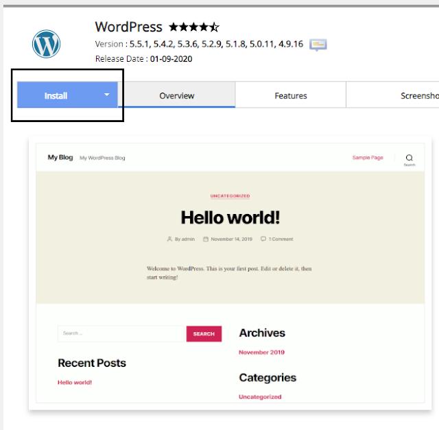 install wordpress di cpanel dengan softaculous