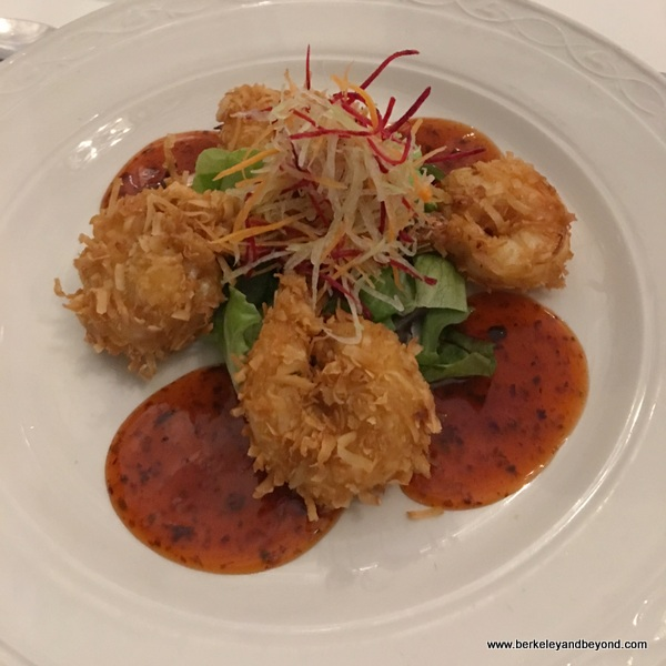 coconut shrimp at Champers Wine Bar & Restaurant in Christ Church, Barbados