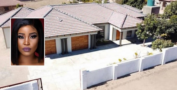 South African model, Eva Modika shows off new house she built for her parents (Photos/Video)
