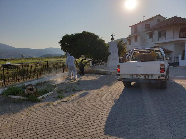 Δεύτερος γύρος απολυμάνσεων από τον Δήμο Ναυπλιέων