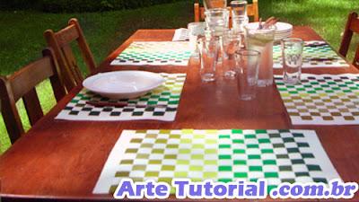 Como fazer toalha de jogo americano xadrez com feltro