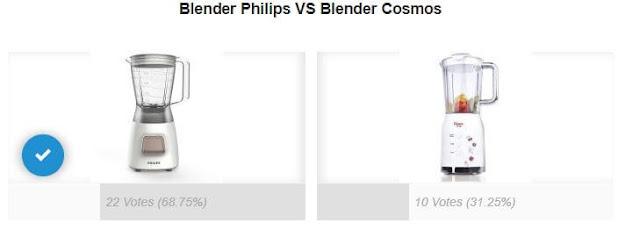 Perbandingan Blender Philips dan Cosmos