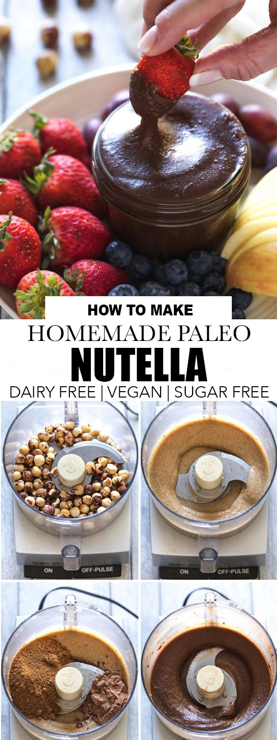 Homemade Paleo Nutella (Refined Sugar Free, Dairy Free)