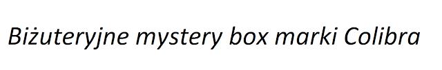 Biżuteryjne mystery box marki Colibra