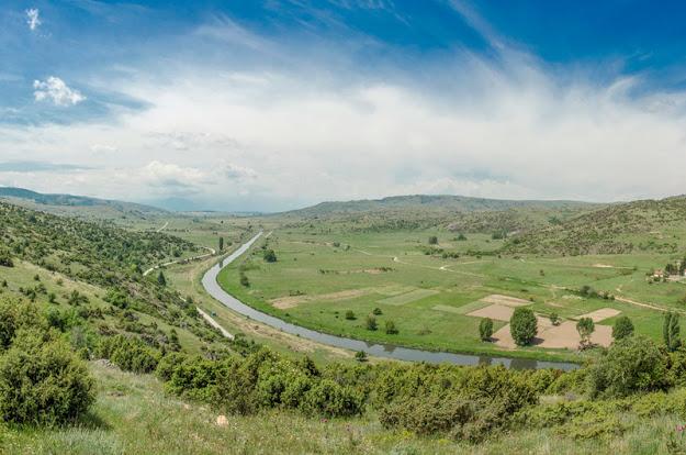 Crna River near Skochivir village - view towards Pelagonia