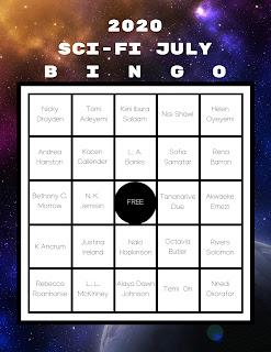 Sci-Fi July bingo card for 2020