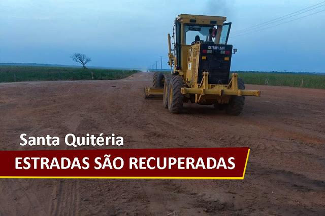 Prefeitura de Santa Quitéria do Maranhão segue recuperando estradas vicinais