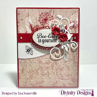Stamp/Die Duos: Bee-Lieve,Embossing Folder Die/Duo: Quatrefoil, Custom Dies: A2 Portrait Card Base with Layer, Matting Rectangles, Leafy Edged Borders, Beautiful Blossoms, Fancy Foliage, Ovals, Pierced Rectangles, Layered Lacey Ovals, Paper Collection: Beautiful Blooms
