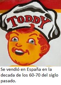 Toddy marca comercializada en España en los 60-70