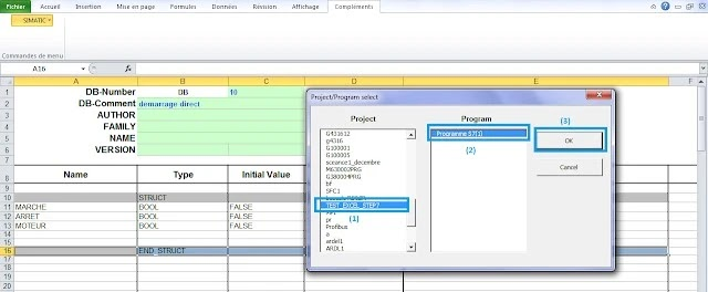 import excel data to step7