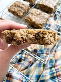 healthy peanut butter banana bars #sweetsavoryeats #covid19
