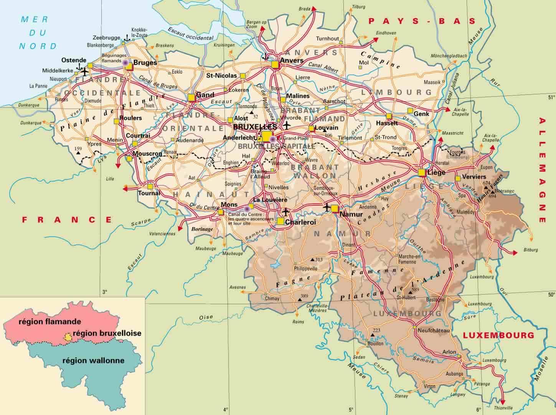 Bélgica | Mapas Geográficos da Bélgica